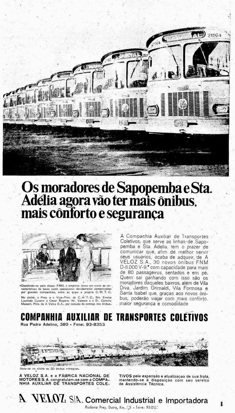 1968 anuncio de novos o^nibus FNM OESP_18.02.1968 - WILLIAM GUARUBUS