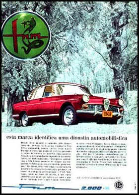 1968 FNM anuncio