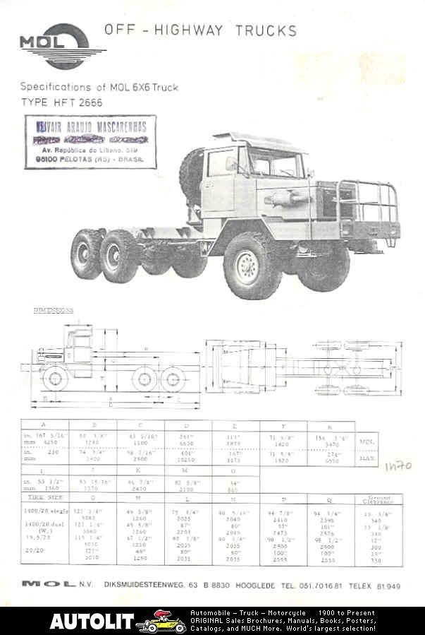 1980 MOL Deutz HFT2666 6x6 Construction Truck