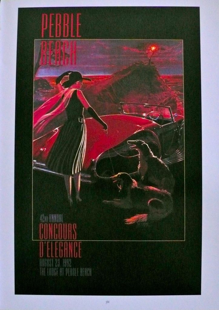 1992 42nd Pebble Beach Concours d'Elegance 1992 Poster Print Delahaye William Motta