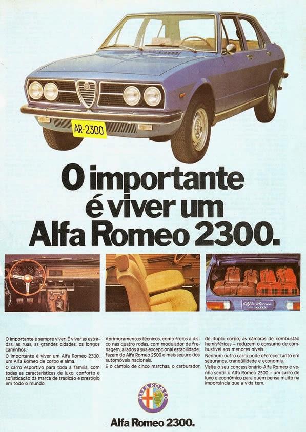 Alfa Romeo 2300 75 propaganda