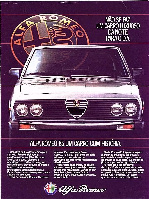 Alfa Romeo 85 Um Carro Com Historia