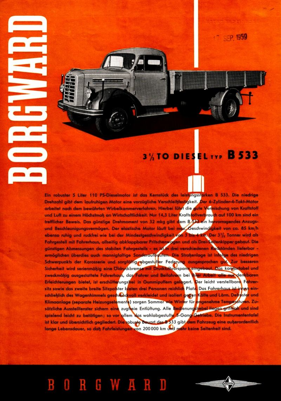 Borgward b533-a folder