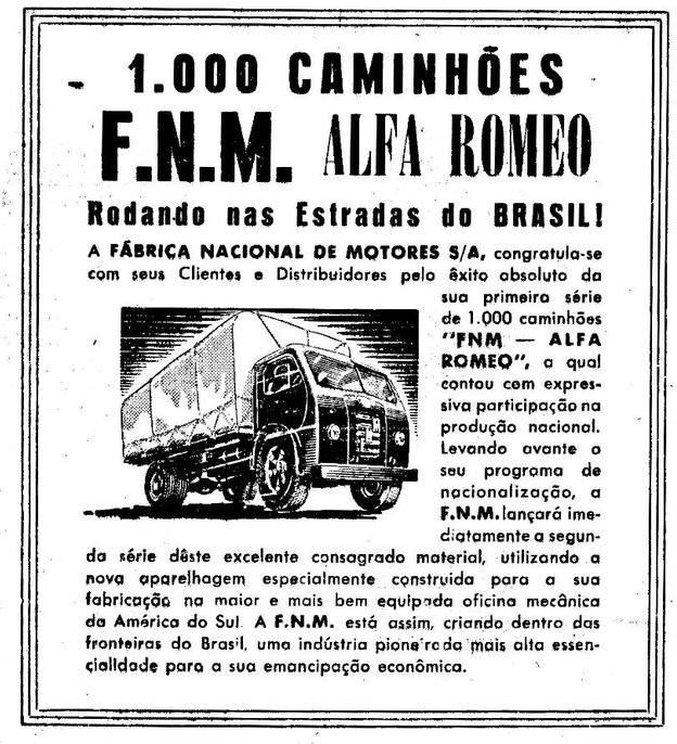 FNM Alfa Romeo 1000 Caminhoes