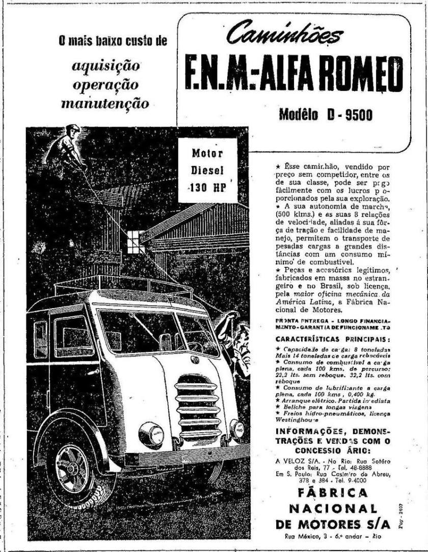 FNM D-9500 Alfa Romeo ad
