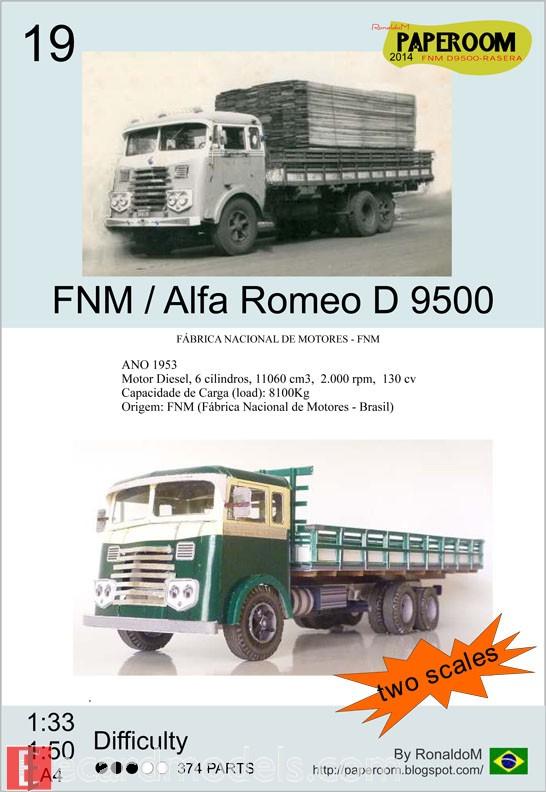 FNM D-9500 Paper Model