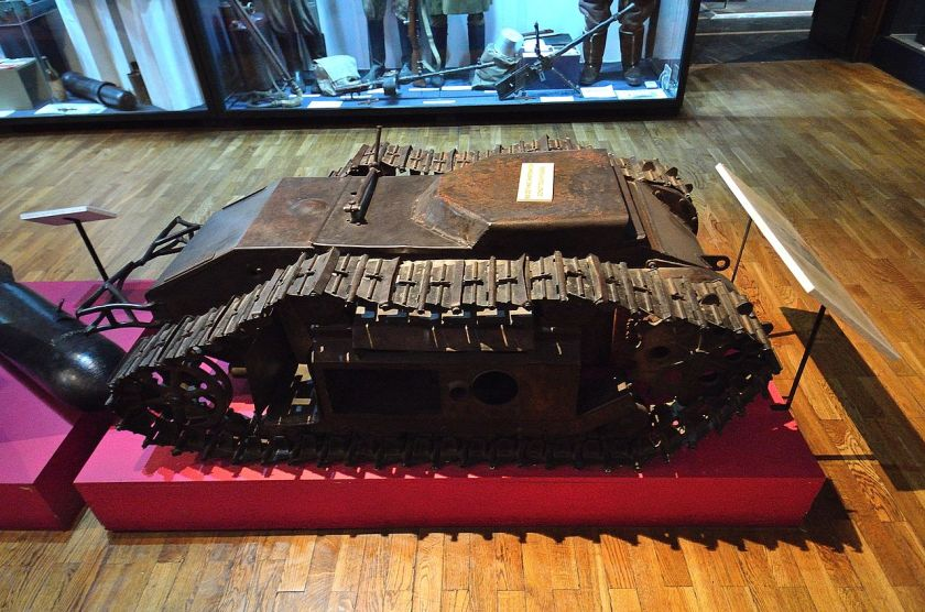 Goliath 303a captured by the Polish troops during Warsaw Uprising on display in the Polish Army Museum in Warsaw