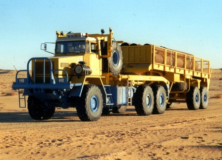 MOL HF 6066 tractor and trailer outfit, seen here operating in Tunisia
