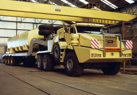 MOL took over the KFM 'Desert Lion' oilfield truck project in 1983, re-engineered it as the 800hp TB 800 and today it is still operating in Algeria