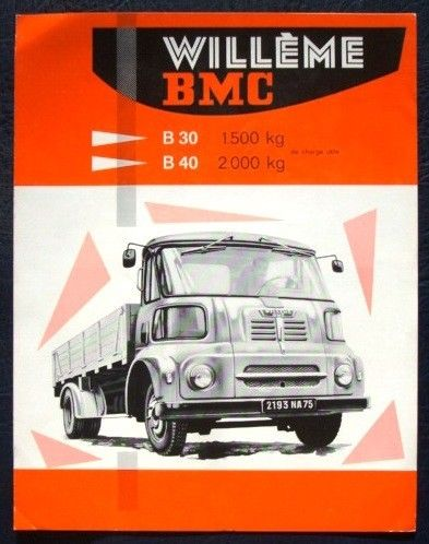 WILLEME BMC B30 TRUCK SALES BROCHURE FRENCH AUSTIN FG