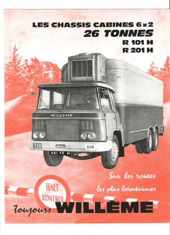 Willeme R 101H + R 201 H 26 Tonnes Truck Ad