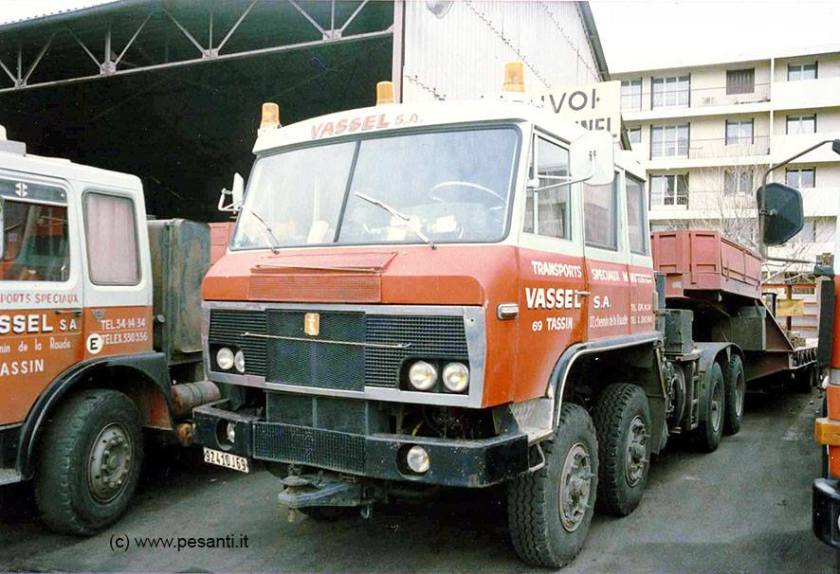 WILLEME WG 180 8x4, the first 4 axle tractor with Pelpel cab, here in 1985