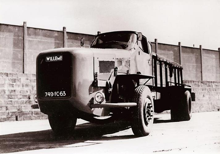 Willeme WR8 was developed by Michelin in the 1950s to test truck tires