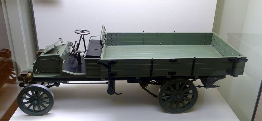 1903 Büssing truck 1-5th size model, Braunschweig, wood and iron