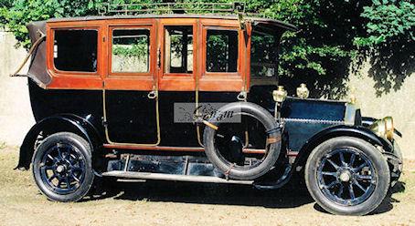 1912-13 Lancia Eta van 1912 met carrosserie van Schutter & van Bakel (gebouwd in het voorjaar van 1913)