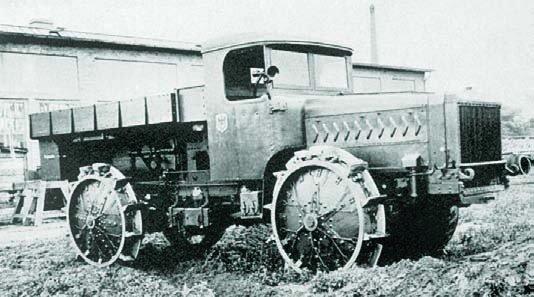 1917 Büssing artillery tractor, 4x4