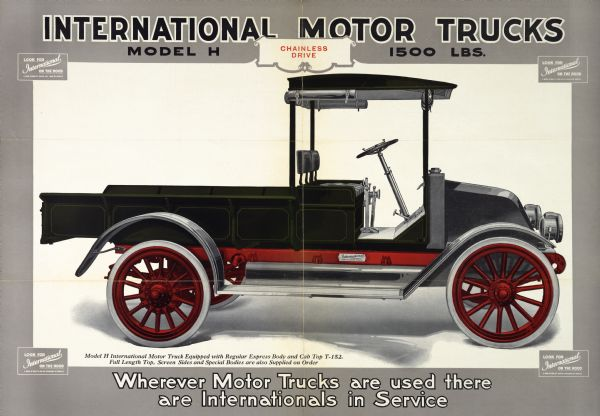 1917 International Motor Truck Advertising Poster