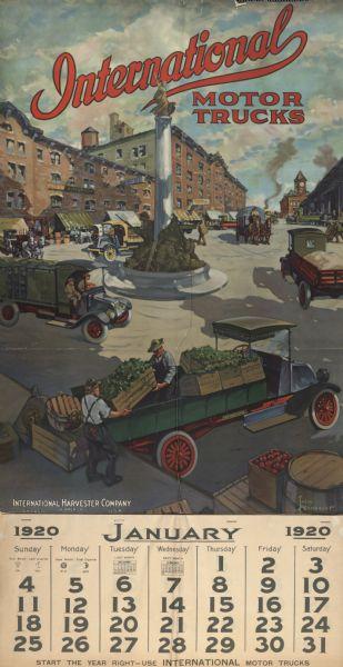 1920-01 International Truck Calendar