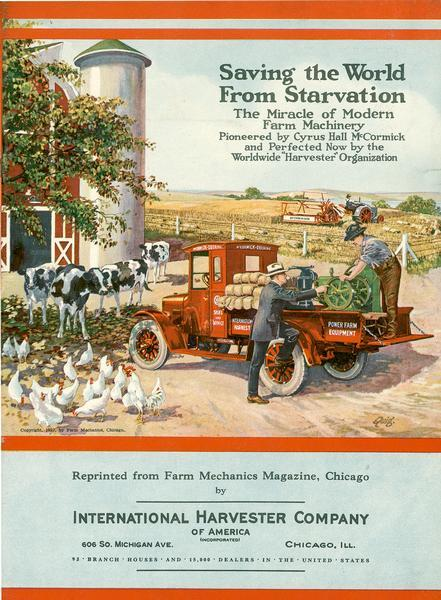 1922 IHC Saving the World From Starvation Advertisement
