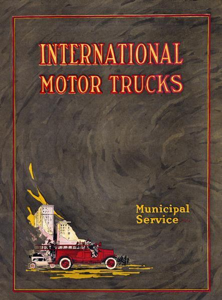 1923 International Municipal Service Truck Catalog
