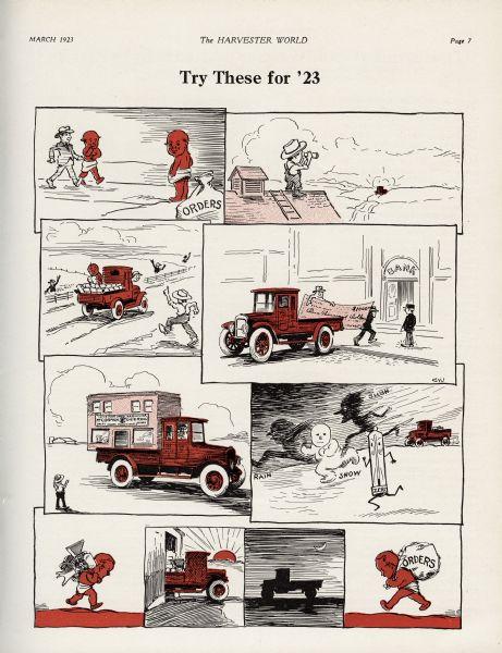 1923 Red Baby Truck Cartoon
