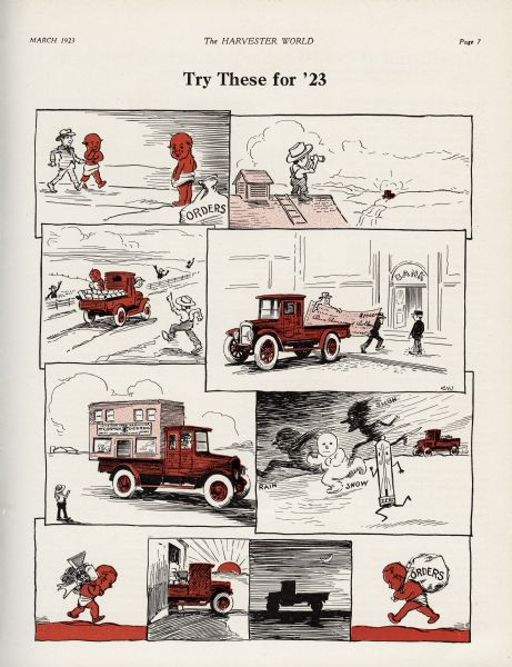 1923 Red Baby Truck Cartoon
