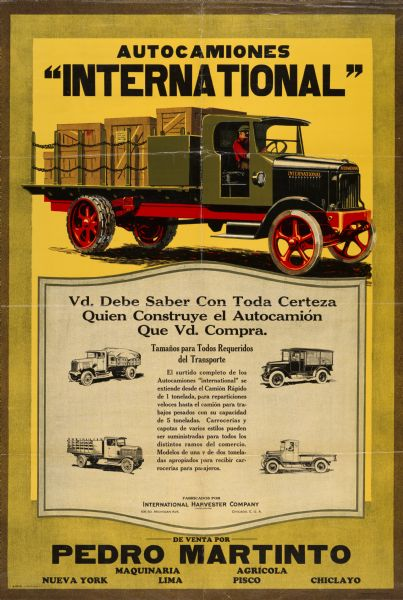 1924 International Motor Truck Advertising Poster