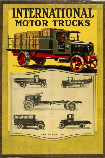 1924 International Motor Trucks Advertising Poster