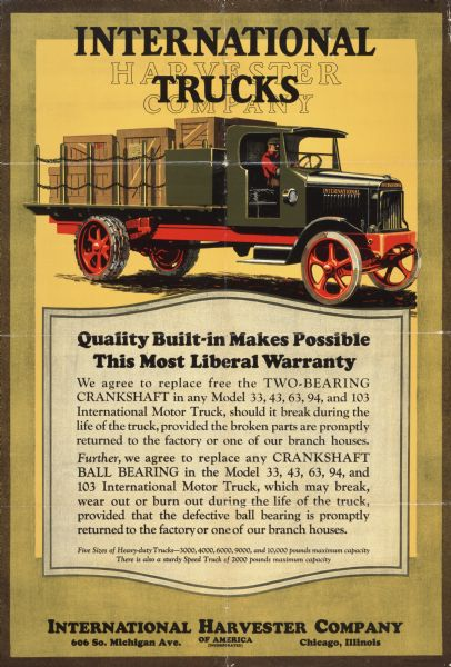 1924 International Truck Advertising Poster