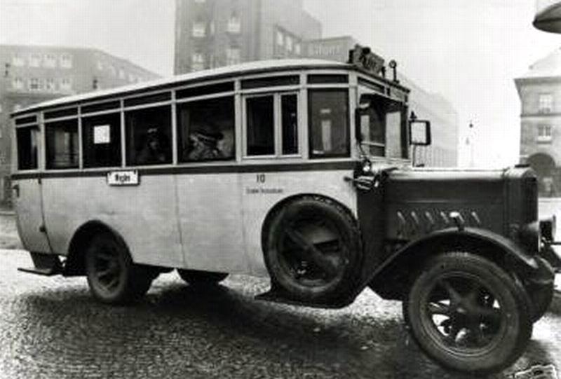 1925 Büssing omnibus Baydekarte