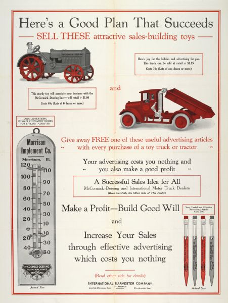 1925 Here's a Good Plan That Succeeds