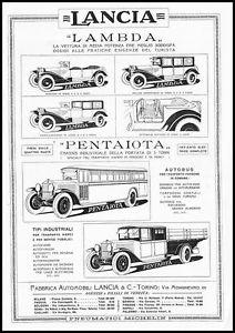 1925 LANCIA-LAMBDA-PENTAIOTA-AUTOBUS-MODELLI