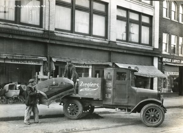 1925 Model S International truck owned by Zieglers Furniture Store