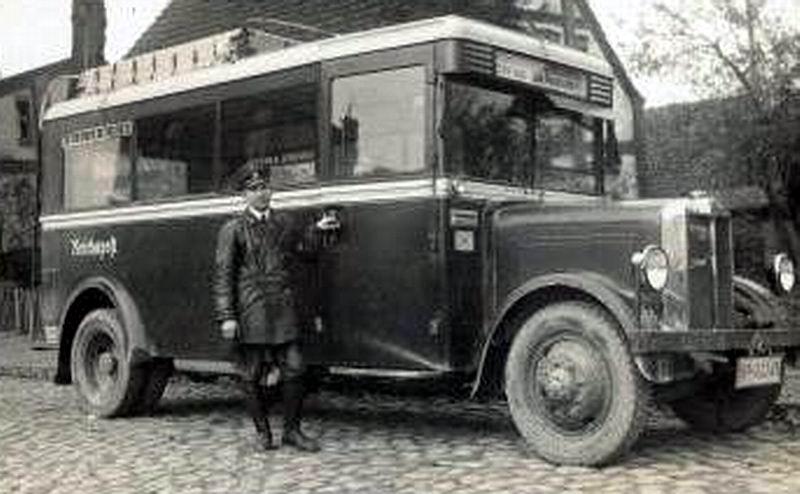 1926 Büssing bus ReichsPost