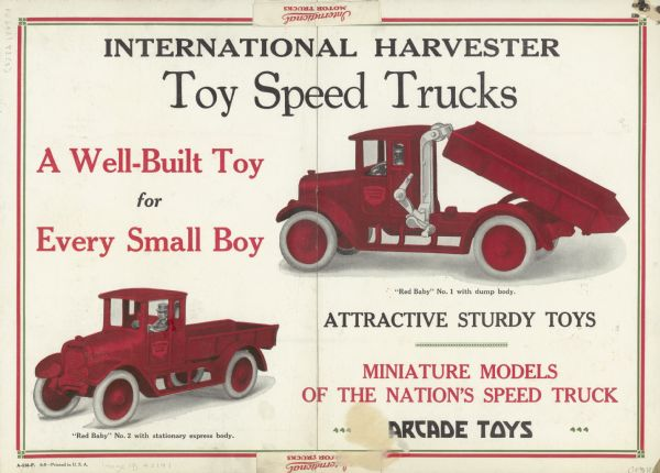 1926 International Harvester Toy Trucks