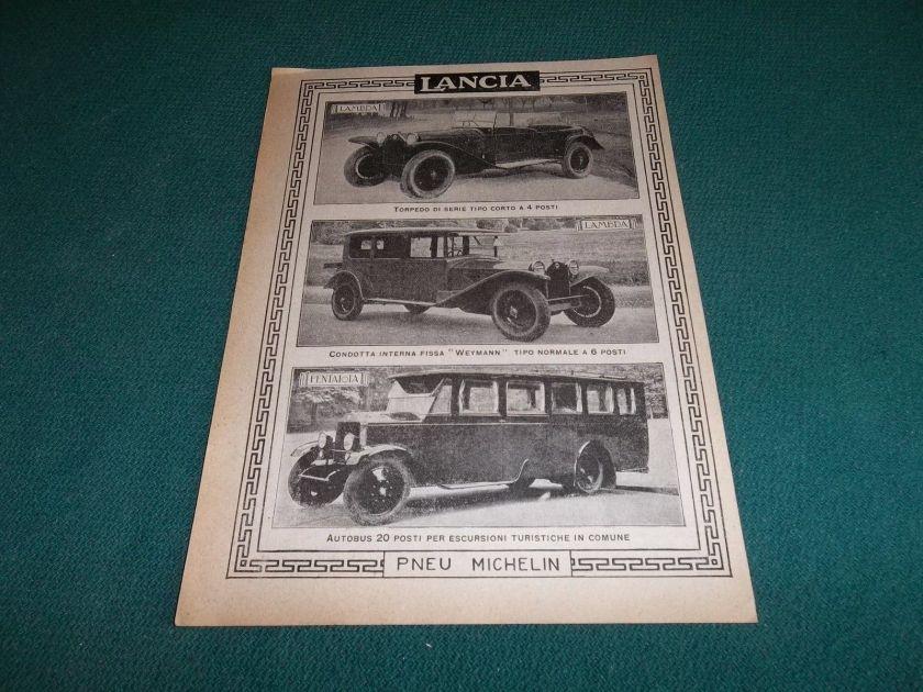 1927,AUTOMOBILI LANCIA AUTOBUS PENTAIOTA,LAMBDA TORPEDO WEYMA
