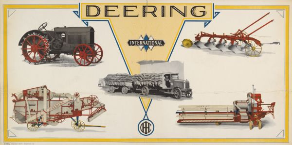 1929 Deering Farm Equipment and International Truck Advertising Poster