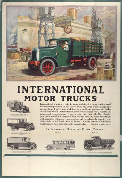 1929 International Motor Truck Advertising Poster