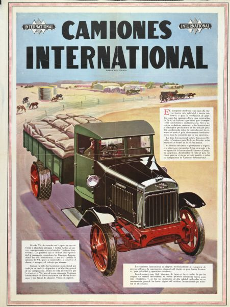1929 International Truck Advertising Poster (Argentina)