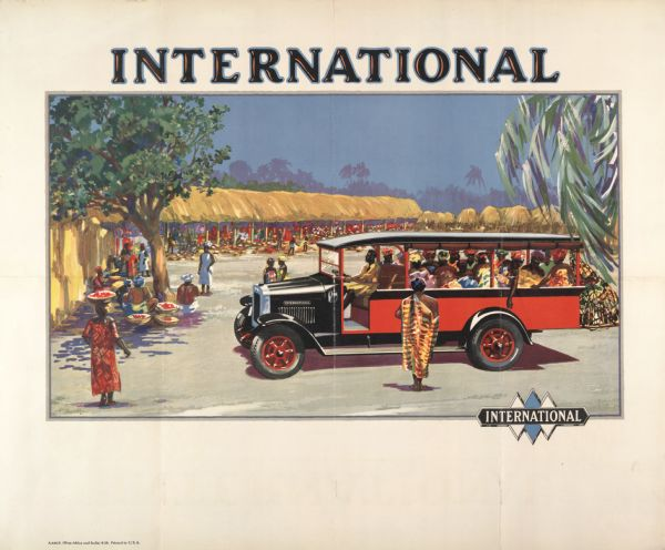 1929 International Trucks Advertising Poster (Africa and India)