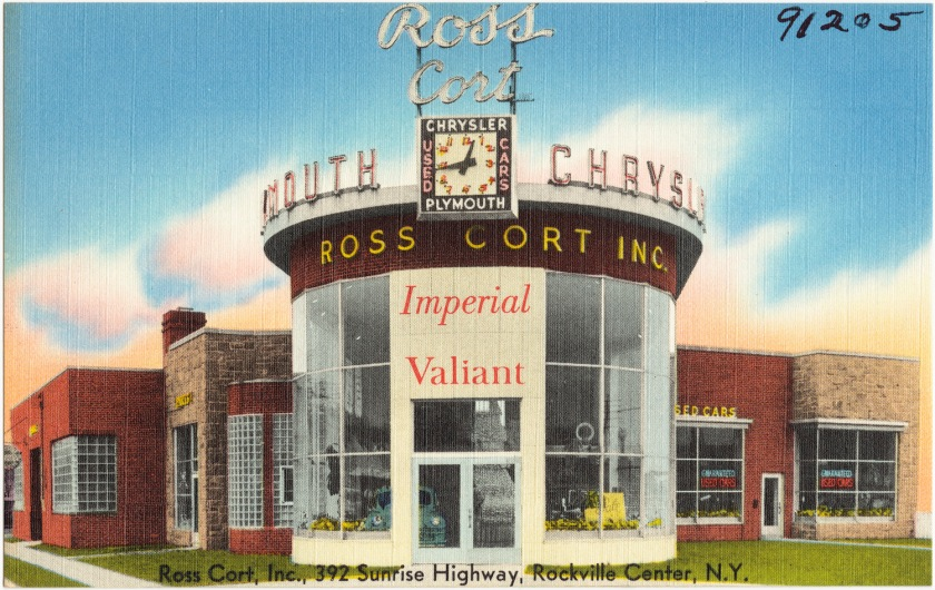 1930-45 Plymouth Valiant dealer Ross Cort, Inc., 392 Sunrise Highway, Rockville Center,NY