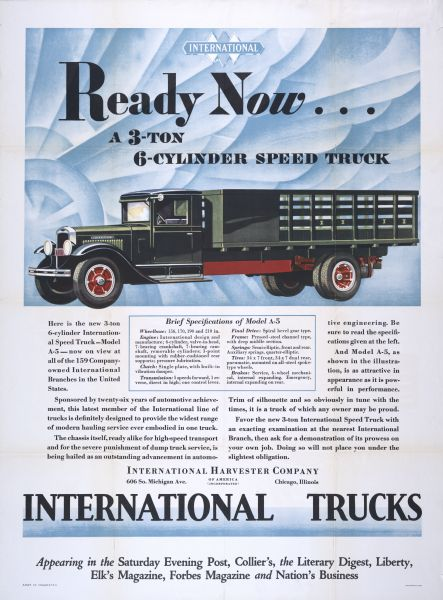 1930 International Model A-5 Poster