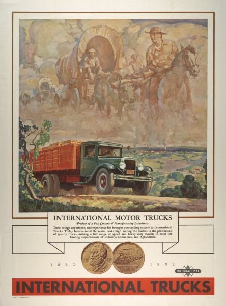 1931 International Truck Advertising Poster