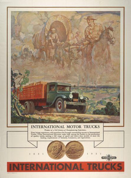 1931 International Truck Advertising Poster