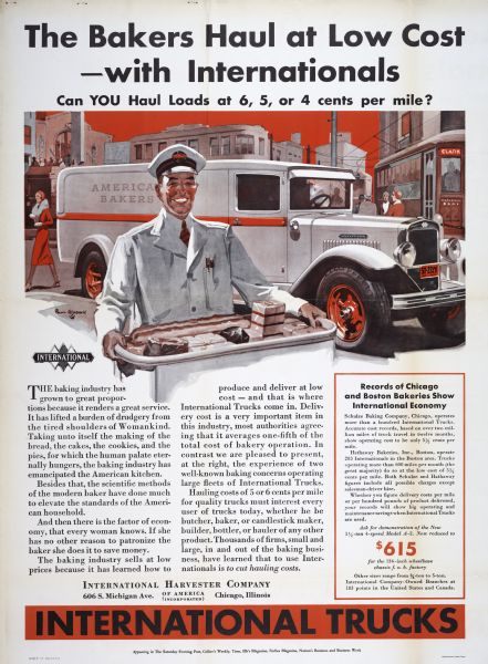 1932 International Harvester Bakeries Poster