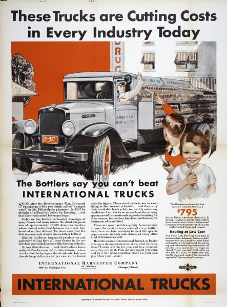 1932 International Harvester Bottling Truck Poster