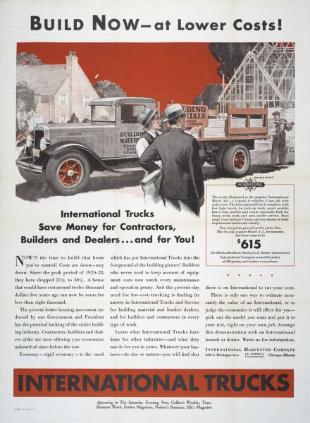 1932 International Trucks for Construction Industry