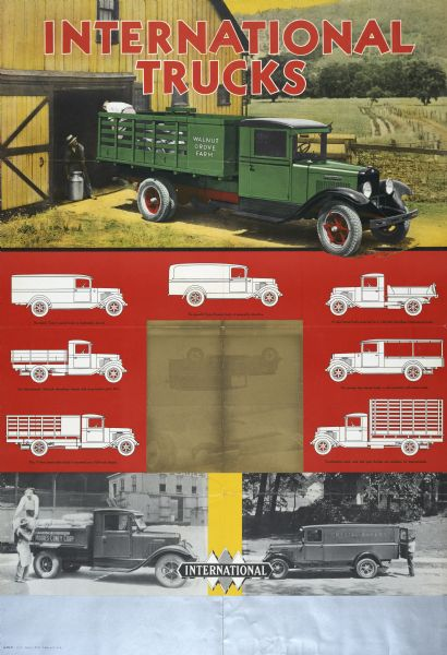1932 International Trucks Poster