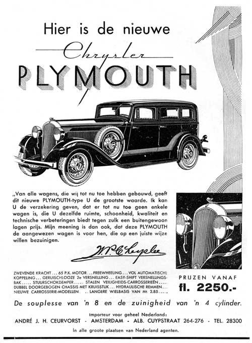 1932 plymouth ceurvorst
