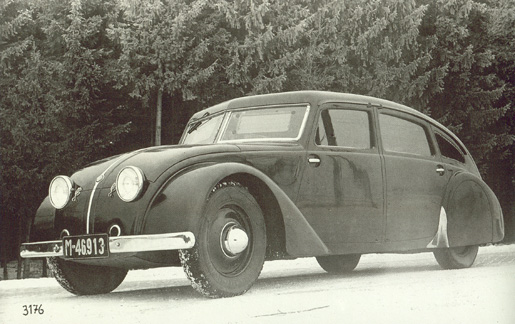 1933 Tatra 77 early prototype, 1933